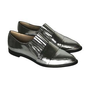Loeffler Randall Rosa Mirror Metallic Loafer Flat